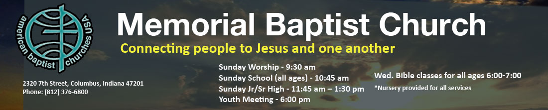 Memorial Baptist Church header image