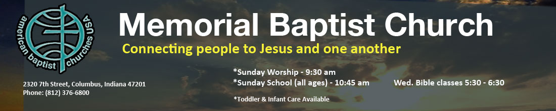 Memorial Baptist Church header image